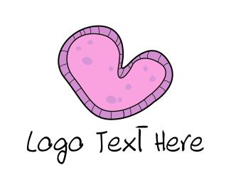 Micro - Amoeba Heart logo design