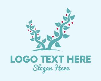 Berries - Colorful Leaves & Antlers logo design