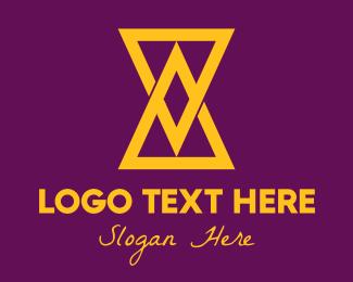 Hourglass - Hourglass logo design