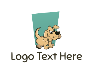 Dog Grooming - Cute Puppy logo design
