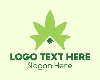 Weed - Cannabis Peak logo design