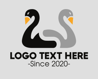 Duo - Duck Duo logo design