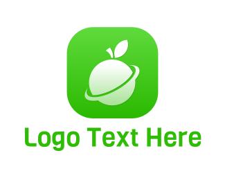 Cellphone - Fruit Planet App logo design