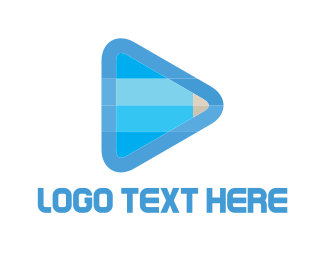 Media Player - Pencil Media Player logo design