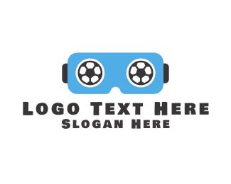 Football - Soccer VR logo design