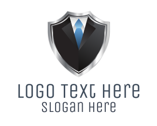 Shield Suit  logo design