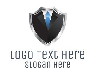 Silver - Shield Suit  logo design