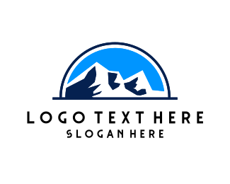 Skiing - Mountain Park logo design