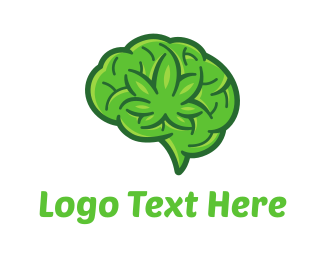 Smoke - Marijuana Brain logo design