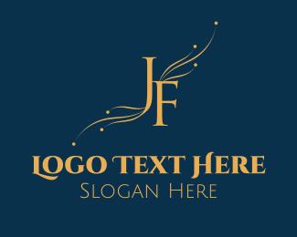 Letter F - J & F logo design