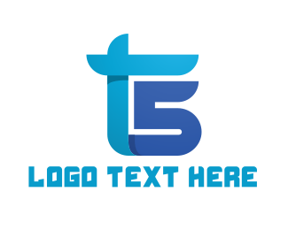 Race - Blue T & S logo design