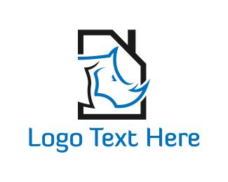 Rhino - Rhino House logo design