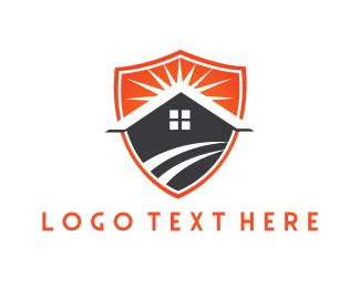House - House & Shield logo design