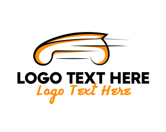 Speed - Orange Car logo design