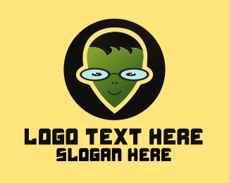 Alien - Geek Alien logo design