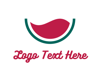 Red Wine - Liquid Watermelon logo design