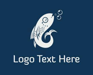 Submarine - Fish & Bubbles logo design