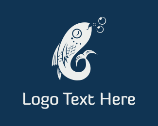 Fish - Fish & Bubbles logo design