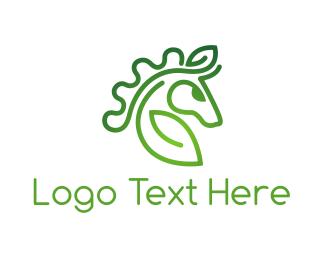 Equine - Organic Farm logo design