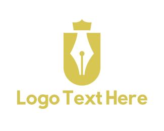 Crown - Royal Letter U logo design