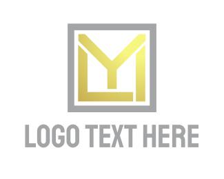 Corporation - Yellow Square MYL logo design