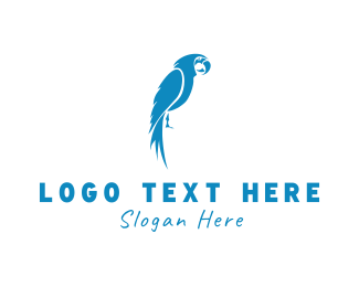 Tropical - Blue Parrot logo design
