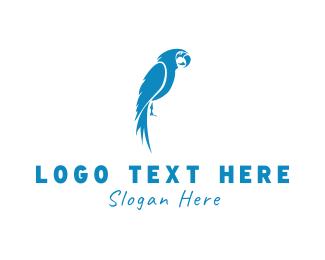 Parrot - Blue Parrot logo design