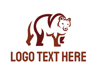 Brown And White - Brown Bear logo design