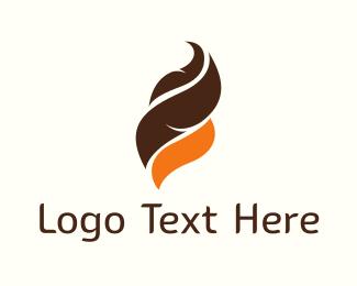 Ice Cream - Chocolate & Orange logo design