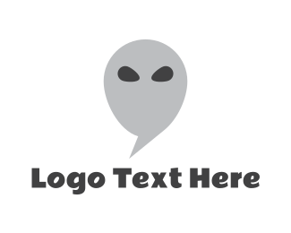 Outer Space - Alien Chat logo design