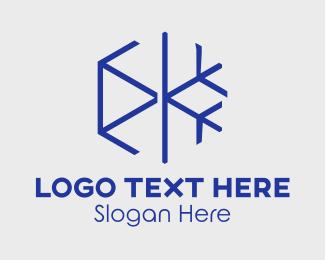 Hvac - Minimalist Snowflake logo design