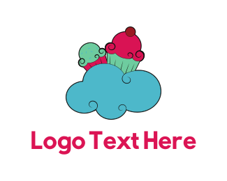 Sweets - Cloud & Cupcakes logo design