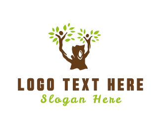 Parenthood - Family Tree logo design