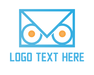 Post - Owl Mail logo design