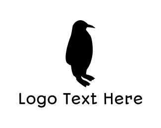 """Black Penguin Silhouette"" by user1471701047"