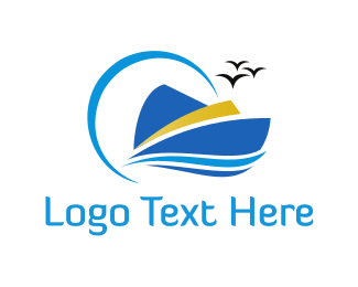 Marine - Blue Yacht logo design