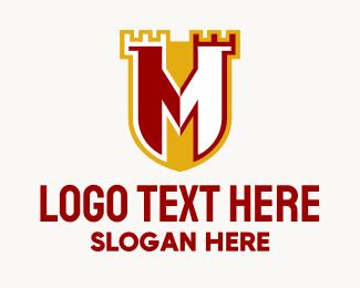 Kingdom - Letter M Castle  logo design