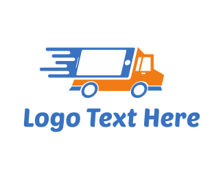 Courier Service - Tech Truck logo design