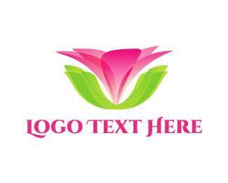 Lotus - Pink Flower logo design