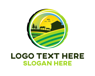 Cattle - Horse Farm logo design