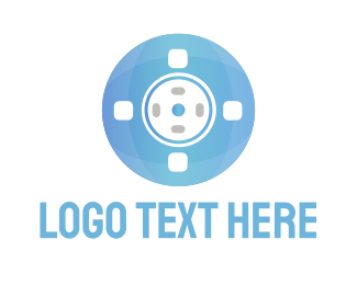 Theater - Blue Reel logo design