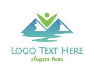 River - Eco Valley logo design