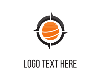 Compass - Orange Compass  logo design