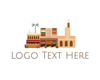 Grocery - Arab Neighborhood logo design