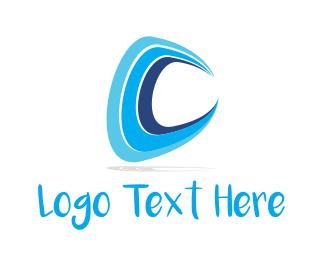 Shell - Water Letter C logo design