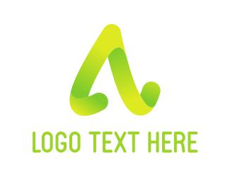 Curved - Curved Letter A logo design