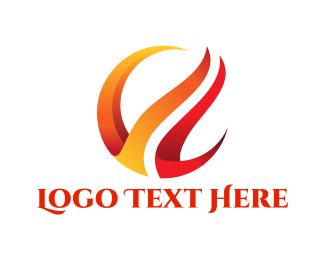 Corporate - Red Flames logo design