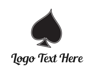 Gamble - Black Spade logo design