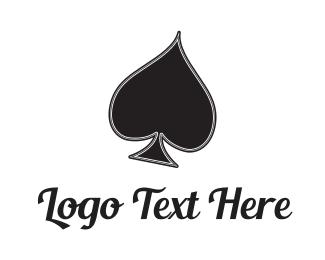 Gambling - Black Spade logo design