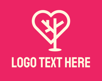 Tree - Tree Heart logo design